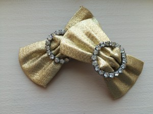 roxie & lou | gold lame shoe clips