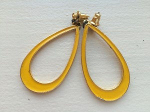 roxie & lou | mustard yellow teardrop earrings