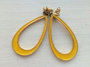 roxie & lou   mustard yellow teardrop earrings