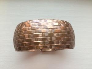 roxie & lou   copper basketweave bracelet